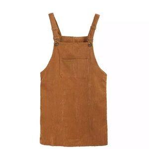 Dresses & Skirts - 🔥FLASH SALE🔥 Fall Tan Corduroy Overall Dress